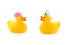 Duckies di gomma gialli Fotografia Stock Libera da Diritti