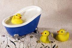 Duckies en caoutchouc Images stock