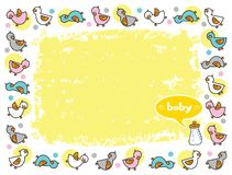 Duckies frame for baby Royalty Free Stock Images