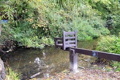 Ducking stool, Christchurch, Dorset. Royalty Free Stock Photos