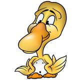 Duckling 02. High detailed and coloured cartoon illustration Royalty Free Stock Photography