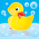 Duckling. Isolated clip-art and children's illustration for yours design, postcard, album, cover, scrapbook, etc Stock Photography