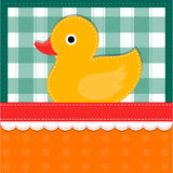 Duckling card Stock Image