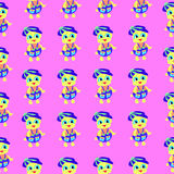 Duckling pink pattern colorful abstract background Stock Photo