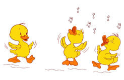 Duckling's concert. A illustration of duckling's concert and a having fun illustration Royalty Free Stock Photos