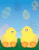 ducklings easter Royaltyfri Illustrationer