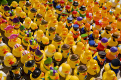 Ducks. Rubber ducks for sale at the market Royalty Free Stock Image