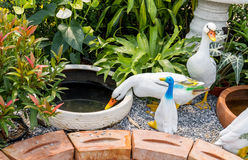 Ducks decoration sculpture Stock Images