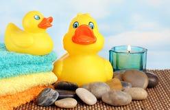 ducks rubber spa Στοκ Εικόνα