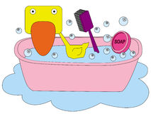 Ducky bath Royalty Free Stock Photo