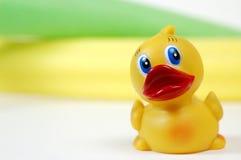 Ducky de goma, tiempo del baño Fotografía de archivo