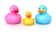 Ducky family Royalty Free Stock Images