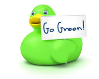 Ducky Go Green Stock Images