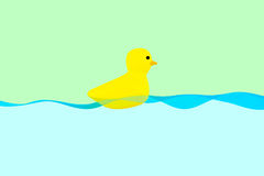 Ducky gummi royaltyfri illustrationer