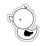 Ducky toy isolated icon Stock Images
