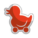 Ducky wheels isolated icon Royalty Free Stock Image
