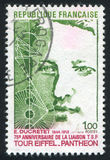 Ducretet and his Transmission Diagram. FRANCE - CIRCA 1973: stamp printed by France, shows Ducretet and his Transmission Diagram, circa 1973 royalty free stock image