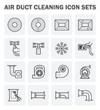 Duct clean icon Royalty Free Stock Photography