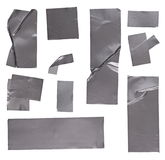 Duct repair tape silver patterns kit  on white background Royalty Free Stock Photo