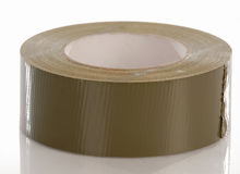 Duct tape. Role of duct tape with reflection on white background royalty free stock image