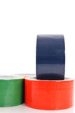 Duct Tape. Red, Blue And Green Duct Tape royalty free stock photo