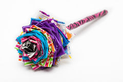 Duct Tape Flower. This is an image of flower made out of colorful duct tape on white seamless Royalty Free Stock Image