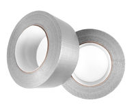 Duct tape. Grey duct tape isolated on white Royalty Free Stock Photos
