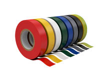 Duct tape Isolated on White Background, 3D rendering Stock Photography