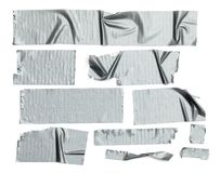Tape Pieces Duct. Duct Tape Pieces Isolated on White Background stock photos