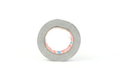 Duct tape roll silver repair reel on white Royalty Free Stock Photos