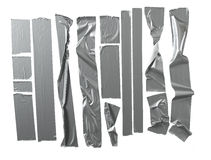 Duct Tape. Silver Duct tape selection isolated on white Royalty Free Stock Images