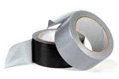 Duct tape. On white background Stock Images