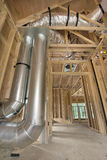 Duct Work for Home Heating Cooling System Stock Image