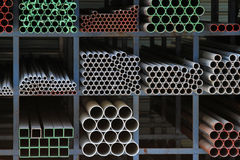 Ductile iron pipes Stock Photo