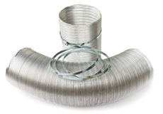 Ducts and clamps Royalty Free Stock Images