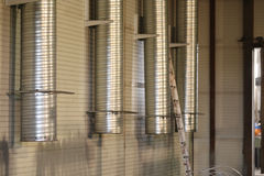 Ducts of industrial ventilation system Stock Photo