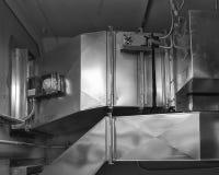 Ductwork с приводом и индикатором дыма Стоковые Фотографии RF