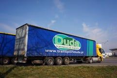Duda transport truck Stock Image