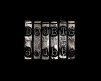 dudas Foto de archivo libre de regalías