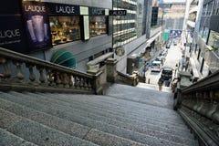 Duddell gata, Hong Kong Royaltyfria Foton