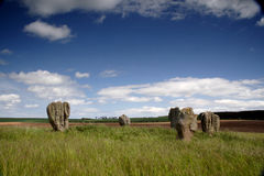Duddo Stone Circle Royalty Free Stock Photos