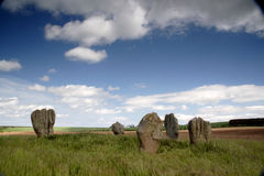 Duddo stone circle Stock Photo