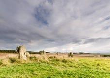 Duddo stone circle Royalty Free Stock Photos