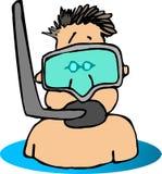 dude κολυμπά με αναπνευτήρα Στοκ φωτογραφίες με δικαίωμα ελεύθερης χρήσης
