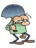 dude ομπρέλα ελεύθερη απεικόνιση δικαιώματος