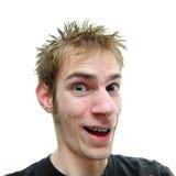 dude στοματικό ανοικτό χαμόγε στοκ εικόνα με δικαίωμα ελεύθερης χρήσης