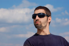Dude. Handsome cool dude with beard royalty free stock images