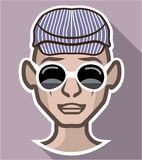 Dude Avatar glasses hat Stock Image