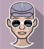 Dude Avatar glasses hat Stock Image
