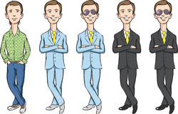 Dude cartoon set. Vector illustration of dude cartoon set. Easy-edit layered vector EPS10 file scalable to any size without quality loss Stock Photos